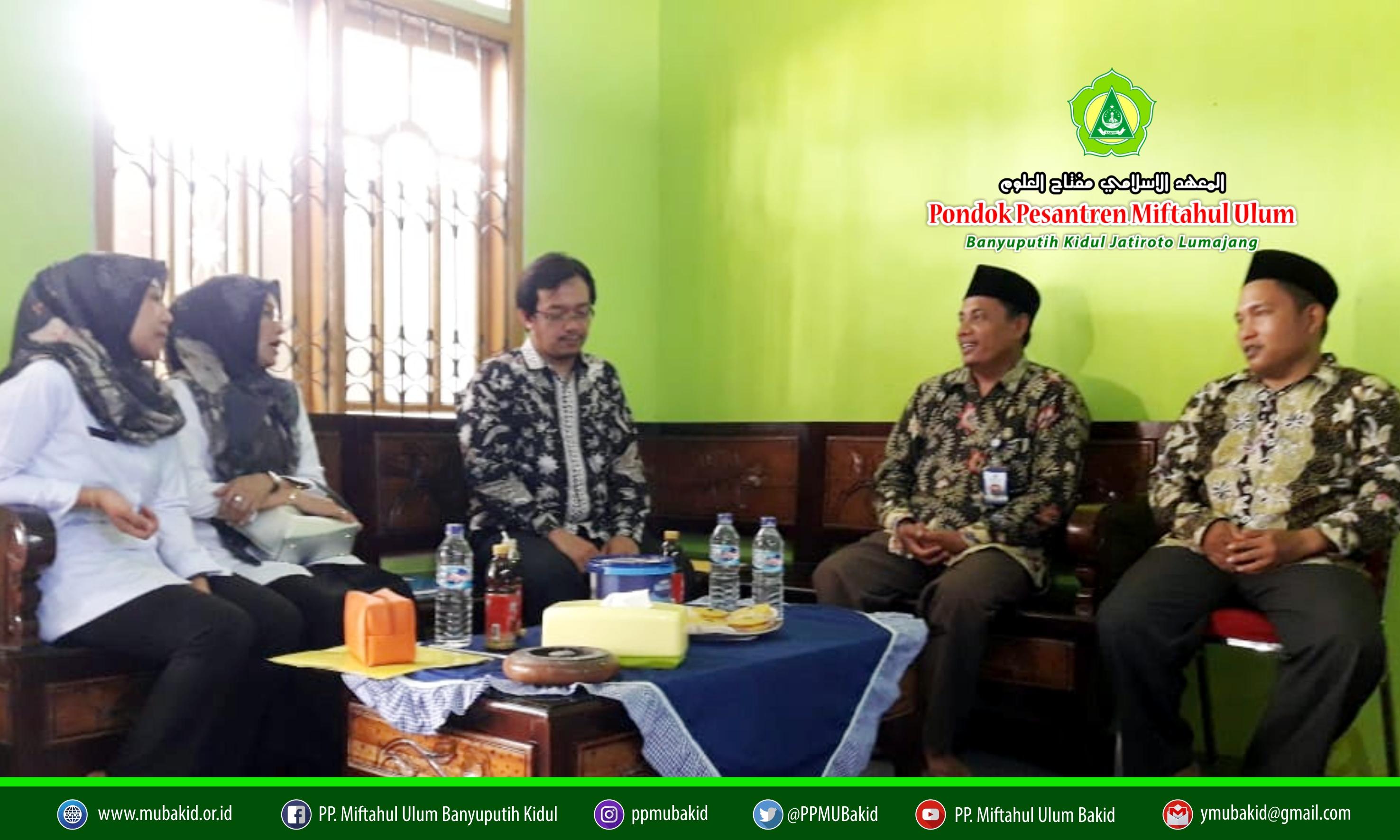 Hari Kedua UNBK, Pejabat Kanwil Kemenag Jawa Timur Monitoring ke MTs. Miftahul Ulum Bakid