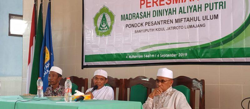 Awali Tahun Baru 1441 H, Yayasan Miftahul Resmi Membuka Madrasah Diniyah Aliyah Miftahul Ulum